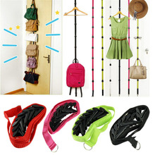 1Pcs Adjustable Hanging Strap over Door with 8 Hooks used for Towel Coats Clothes Hat Bags Organizing, Rack Holder