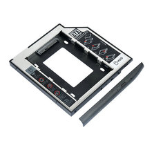 2017 Hot SATA to SATA 2nd HDD Caddy 9.5mm for 9mm 9.5mm SSD Case Hard Disk Drive Enclosure Bay for Notebook ODD Optibay CD-Rom