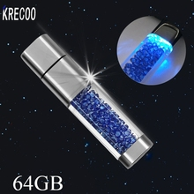 2017 Fashion High Speed USB Crystal Style Pen Drive Diamond USB Flash Drive USB Memory Stick USB Flash 4G/8G/16G/32G/64G(China)