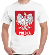 Short Sleeves Cotton Fashion Free Shipping Polska Mens Polish Footballer T-Shirt Poland Man Cool Tshirt(China)