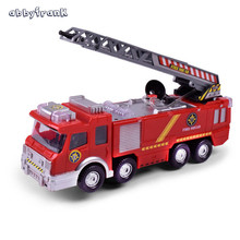 Abbyfrank Simulation Spray Water Musical Fire Truck Model Children'S Toy Gifts Educational Vehicles Electric Car Firetruck(China)
