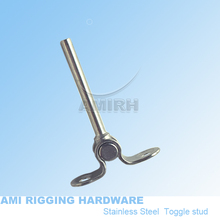 "Deck toggle swage stud 3mm 1/8"" wire, toggle terminal, cable railing, cable fitting(China)"