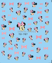 1X  Nail Sticker Black Mickey & Minnie Water Transfers Stickers Nail Decals Stickers Water Decal Opp Sleeve Packing YU766-771