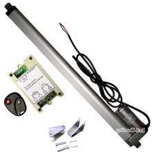 "Linear Actuator 450mm/18"" Inch Stroke 14mm/s Speed 1000N 220Pound Load DC 12V Motor &Wireless Remote Controller & Brackets"