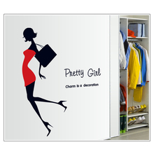 Mannequin clothing wall sticker decoration diy adhesive wall art poster photo vinyl removable wallpaper