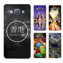 Hong Kong Sunset Skyscraper City Bay Clear Transparent Cell Phone Case Cover for Samsung Galaxy A3 A5 A7 A8 A9 2016 2017