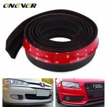 2.5m Newest Car Front Bumper Lip Skirt Protection Car-styling TPVC Front Bumper Strip Car Scratch Proof Adhesive Strips