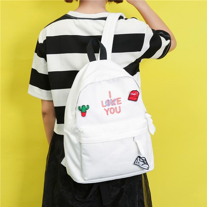 Cute Backpack Girl Women Travel Bag Harajuku Backpacks Students Schoolbag For School Girls Boys Pink Ryugak Rukzaki School Back<br>