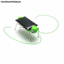 New 1pcs Lovely Mini Solar Energy Powered Child Toy Fashion Educational Locust Solar Grasshopper Insect Christmas Gift Toys(China)
