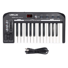KS25A Portable 25-key USB MIDI Keyboard Controller with USB Cable(China)