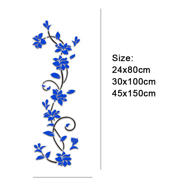 HTB1JSz9vDJYBeNjy1zeq6yhzVXaQ - Hoomall Acrylic Flower Wall Stickers Poster New Year Decorations Removable Stickers for Kitchen DIY Wall Stickers for Kids Rooms