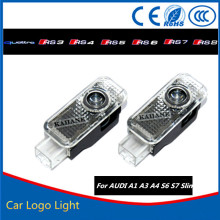 2pcs Car LED Door Warning Light For Audi Logo Projector For Audi A6 C4 C5 C6 4F C7 S6 RS6 RS A6L Allroad S line Quattro