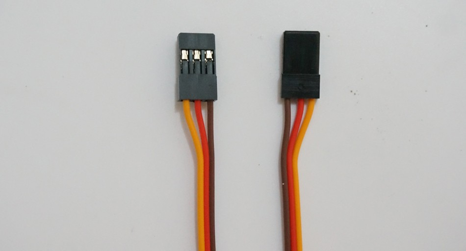 100pcs 30cm Male To Male Servo Extension Lead Cord 26AWG wire 3-pin Cable