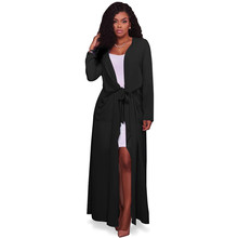 2017 New Fashion Trench Coat for Womens Plus Size Summer Chiffon Trench Women Cardigan Casual Long Duster Trench Coat Female