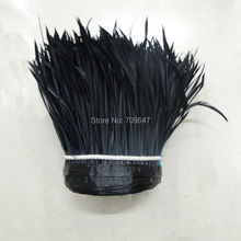 10Yards/lot! black Goose Biot Feather Trim,Millinery Feather, Biot, Hat Trimming, Feathers for Millinery,Fascinators & Crafts
