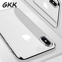 Ultra Thin Soft TPU Silicon Case For iPhone X 8 7 6 6S Plus Plating Transparent Phone Case For iPhone 5 5s se 10 Cover Case(China)