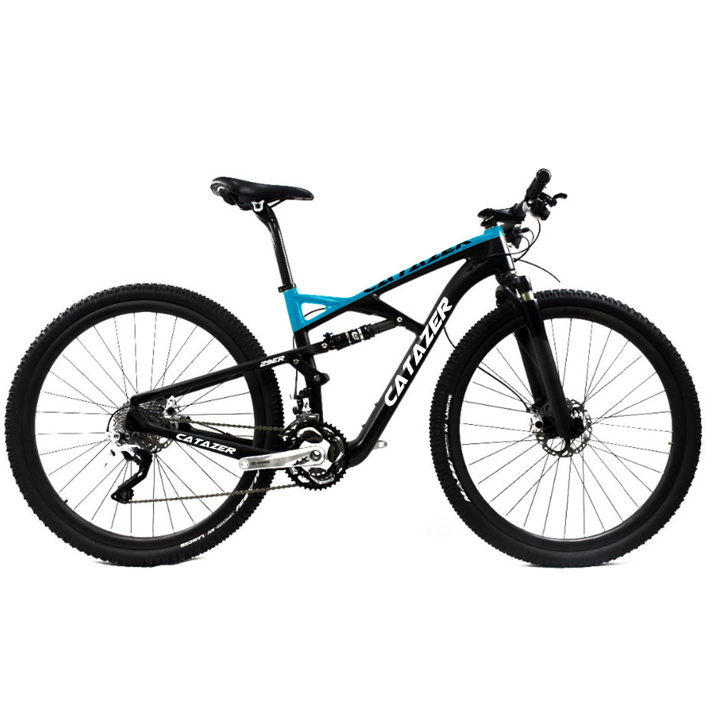 CATAZER Carbon Mountain Bike 27.5er Suspension Frame 20/30 Speeds Profession Disc Brake MTB Bicycle 650B With SHIMAN0 M8000 title=