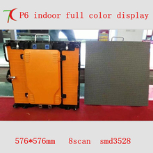 576mm*576mm indoor 8scan P6 die-casting aluminum hd rental screen for advertising,27777dots/m2(China)