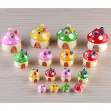 Kawaii Mini Mushroom House Garden Decoration Resin Crafts Fairy Garden Decor Ornaments for Bonsai Micro Landscape DIY Craft