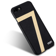 MOFi Jet black case for iPhone 7 iPhone7 plus case luxury back leather cover brand original retail accessories for apple iPhone(China)