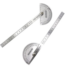 1 Pcs Angle Ruler Protractor Stainless Steel Ruler With 180 Degree Angle Square Woodworking 15cm Angle Measuring Goniometer
