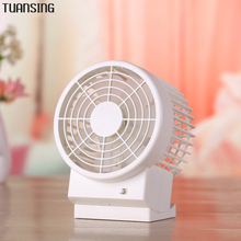 Ultra-quiet Summer Portable Mini USB Fan Office Desk Fan Leque Air Conditioner double Blades Second Gear Speed Fans(China)