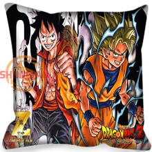 New Custom Pillow Case Anime Japanese Heroes one piece Naruto  dragon ball Pillowcases zipper  Pillow Cover