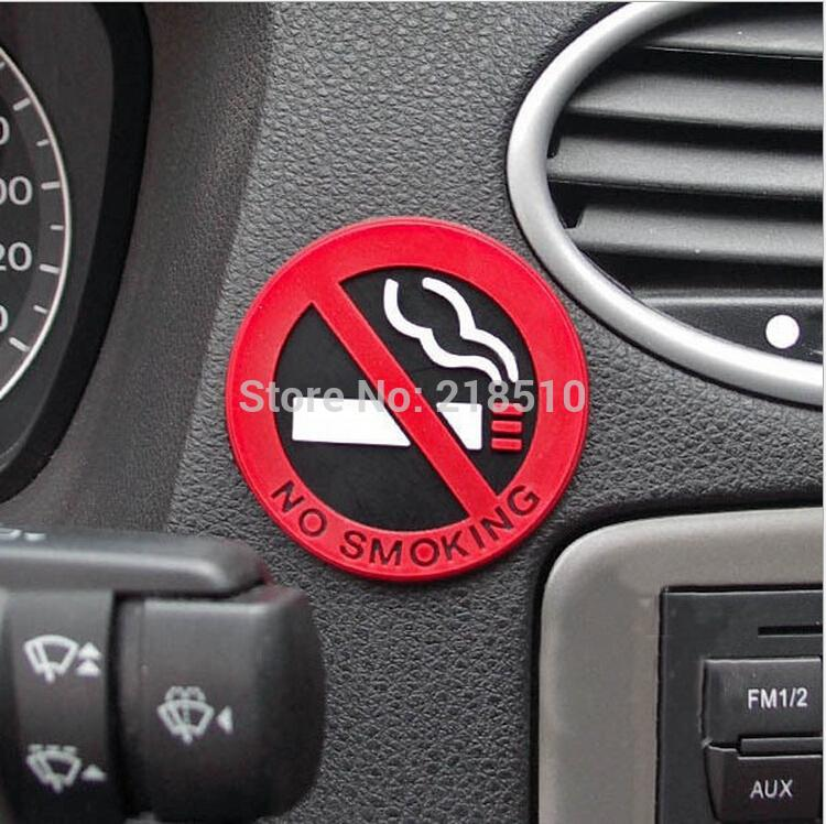 Car Styling No Smoking Logo Stickers Car Stickers Waterproof Reflective Car Decal On Rear Windshield(China (Mainland))