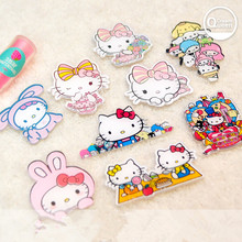 10pcs mixed  acrylic resin cartoon hello kitty cabochon  for DIY  pendant decoration