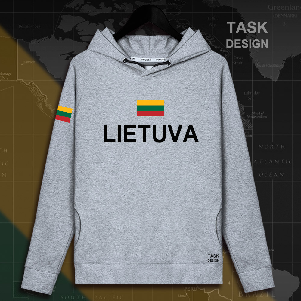 Lithuania Lithuanian LTU Lietuva Lietuvos men hoodie pullovers hoodies men sweatshirt new streetwear clothing Sportswear tracks 15
