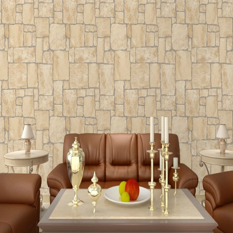 Free Shipping High grade club entrance imitation marble characteristics imitation stone living room TV backdrop wallpaper <br>