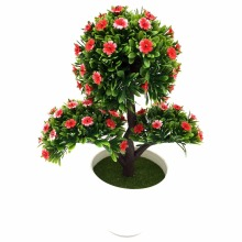 2017 New arrival Big Sale Artificial flower bonsai Set fake flower plant pine trees Komatsu flower vase free shipping