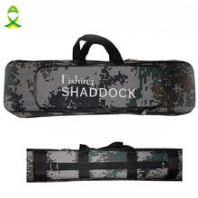 Camouflage Two-Layer Nylon Fishing Bag Large Capacity Double Layer Fishing Rod Tackle Bag Fishing Equipment Multi-Purpose