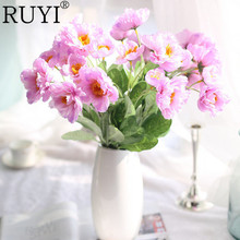 11pcs/lot Vivid Poppy Rosemary High Quality Decorative  Silk Simulation Fake Plant Wedding Home Decoration Artificial Flowers