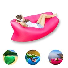 Portable Air Sofa Inflatable Couch - GreForest Pink Air Couch Outdoor Waterproof Inflatable Lounger For Camping,