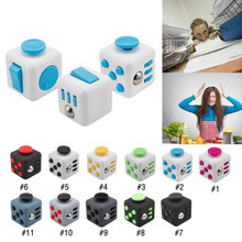 Buy 11 Style Stress Cube Fidget Toys Original Puzzles & Magic Cubes Anti Stress Reliever Cube Protective Cover Case 3.3cm for $1.21 in AliExpress store