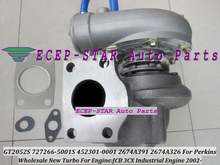 GT2052S 727266 727266-5001S 452301-0001 727266-0001 2674A391 2674A326 452301 Turbo For Perkin-s JCB 3CX Industrial Engine 2002-