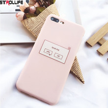 STROLLIFE Cute Candy Color Phone Cases For iphone 7 7Plus 6 6s 8 8Plus Fashion Pink Soft Silicone Cover Coque with Dust Plug(China)
