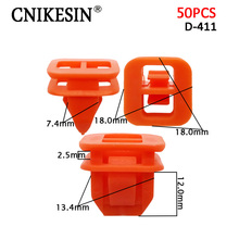 CNIKESIN 50X Auto Plastic Fastener Car Dashboard Fixed Clip Furniture Plug Hole Door Cover Plate Clip for BMW Toyota Volvo Benz