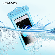 USAMS Universal Waterproof Case Pouch bubble float bag 6 inches phone case for iPhone 7 Samsung S8 plus Xiaomi(China)