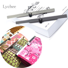 Lychee 1 Piece Metal Coin Purse Frame Bar Edge Strip Wallet Bag Clasp Sewing Tool Accessories Random Color