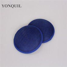 HIGH QUALITY 13CM 17 colors royal blue millinery imitation SINAMAY fascinator base mini party hats DIY hair accessories material(China)