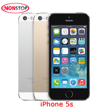 Unlocked Apple iPhone 5S 16GB 32GB 64GB ROM IOS iPhone White Black Gold GPS GPRS IPS LTE Smartphone Cell phone Used iPhone5s(China)