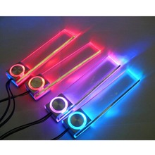 4 Pcs Car Charge LED Interior Decoration Light Floor Atmosphere Lamp Colorful