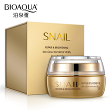 BIOAQUA Brand Hot Sale 50g Skin Care Snail Moisturizing Face Cream Deep Whitening Hydrating Anti-Aging Anti Wrinkle Day Cream(China)