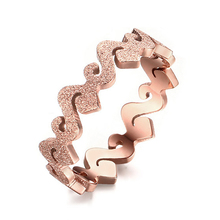 New Design Female Quality Rose Gold Ring Matte Finish Wedding Ring for Women Size 4/5/6/7/8 Wholesale One Ring