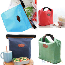 Solid color Creative Thermal Cooler Insulated Waterproof Lunch Carry Storage Picnic Bag Po