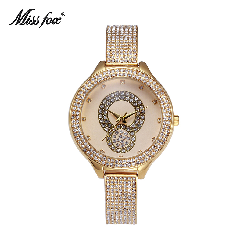 2017 New Style Top Quality Luxury Watches Silver Gold Women Rhinestone Crystal Quartz Watches Lady Bracelate Dress Wristwatches<br>