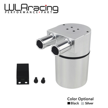 WLRING STORE - RACING UNIVERSAL Aluminum Alloy Reservior Oil Catch Can Tank for BMW N54 335 BLACK & SILVER WLR-TK60