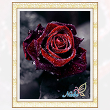 2017 Sale Real Paintings Floral For Square Diamond Painting Embroidery Cross Stitch Mosaic - Flower Rose Drawing Dmc Pictures